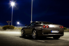 Sleeping with the stars ([ JR ]) Tags: auto blue france car night grey gris airport 33 cab bordeaux ferrari voiture m exotic nuit supercar spotting maranello superamerica 575 aéroport mérignac autogespot fialeix