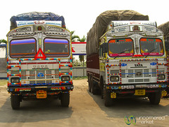 Truck Stop Outside Siliguri, India (