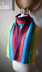 Rainbow scarf (phydeaux designs) Tags: winter scarf rainbow vivid striped intarsia brights garterstitch phydeaux phydeauxdesigns knitknittedknitting