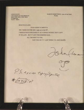 john lennons letter to waylon
