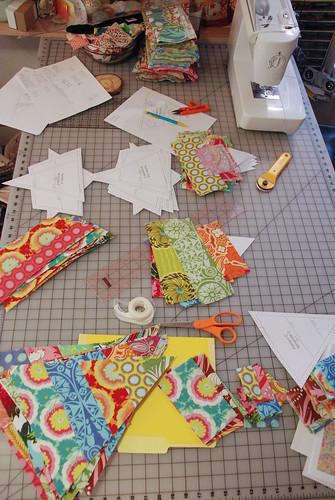 Sunshine quilt progess (1 of 4)