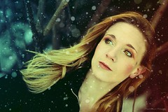 """""""The snow aint' sugar, and neither are you"""" (Propelsthemoon) Tags: winter portrait woman snow colour girl canon 50mm eyes holidays photographer artistic magic gimp sharp fantasy gradient teenager whimsical rebelt ti1"""