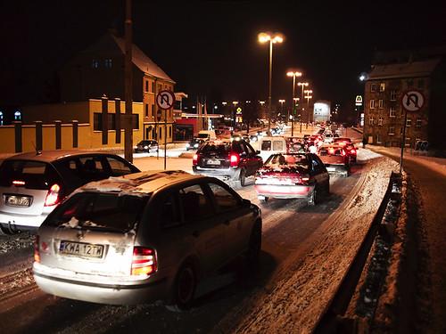 Traffic jam, Wrocław, Długa