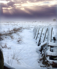 Rays and Mist (Dave Snowdon (Wipeout Dave)) Tags: uk winter sun snow cold field fence landscape lumix countryside rays northyorkmoors northyorkshire osmotherley codbeck wipeoutdave