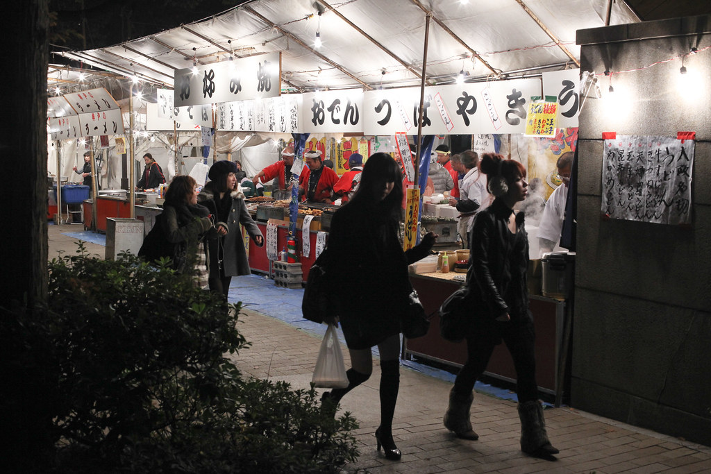 Yatai at Kobe Luminarie