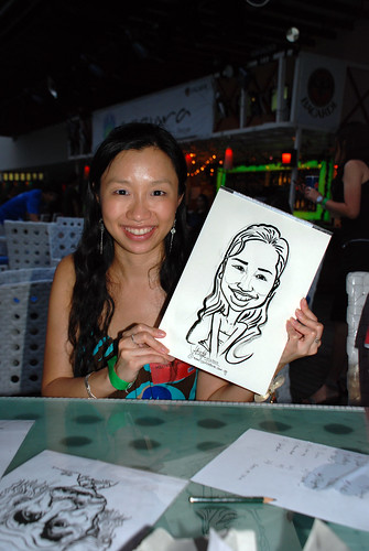 Caricature live sketching for VISA Beach Party 2010 -25