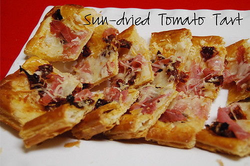 New Year's Eve Appetizers: Sun Dried Tomato Tart