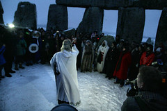 Arthur Pendragon winter solstice stonehenge 2010 (justyourcofchi) Tags: uk trip travel winter white snow stone canon circle model flickr photographer charlotte arnold solstice chi stonehenge druid farnborough 2010 heritagekey herritagekey event6125 chiarnold justyourcupofchicom justyourcupofchi