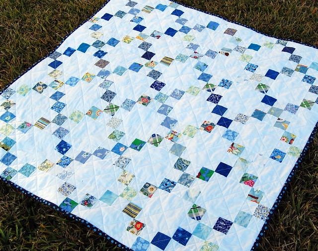 Blue Squares Quilt