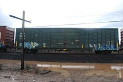 DSC_1428 (huntingtherare) Tags: train bench graffiti miles freight rollingstock benching