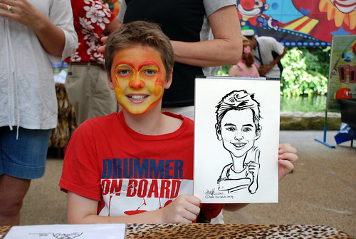 Caricature live sketching for BHP Billiton Family Day 2010- 19