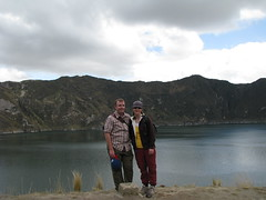 Meg and Dave at the Bottom of the Crater, Quilotoa