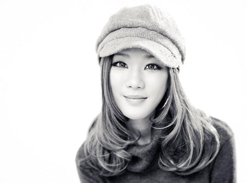 Niki (tianxiaozhang) portrait bw girl beautiful studio 50mm pretty flash headshot explore highkey frontpage softlight eos450d ef5014