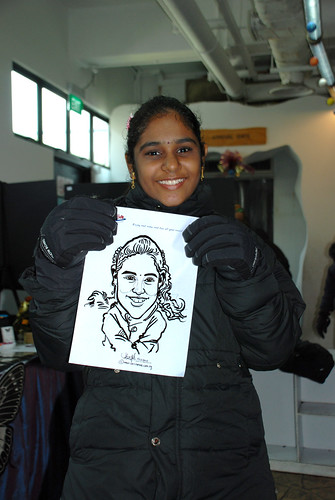 Caricature live sketching for Snow City Winter Wonderland Activities- Day 4 - 2
