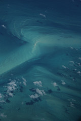 Ocean from above (Rafael Alejandro Rodrguez) Tags: ocean travel blue sea green nature colors clouds airplane waves shadows fromabove bahamas height currents supershot remoline