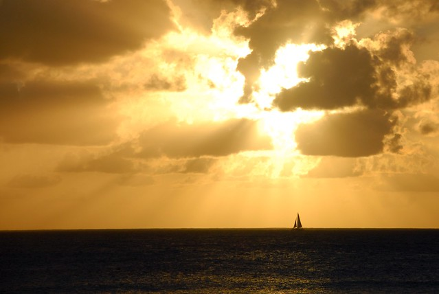 Travel Photo Roulette: a sail in Barbados. Copyright by myviewfromthemiddleseat.com