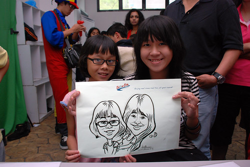 Caricature live sketching for Snow City - Day 5 - 11
