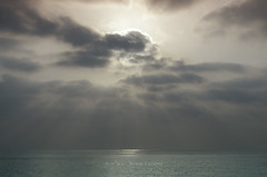Silence and Dreams (Recovering Sick Soul) Tags: light sea cloud sun nature sunrise landscape shine gulf iran rays   nima persiangulf kishisland  fatemi            nimafatemi