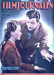 Susan Peters & Robert Taylor on the cover of Filmjournalen (A Swedish Magazine) No. 9, 1945 (Silverbluestar) Tags: ladies girls color classic film beautiful beauty vintage magazine stars women pretty handsome swedish 1940s cover hollywood actress movies actor celebrities brunette 1945 roberttaylor women's susanpeters filmjournalen songofrussia