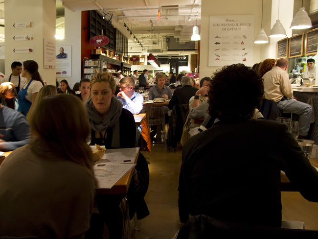 Dining at Eataly