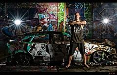 Trashed 2 w-border (Jay Daley) Tags: lighting street abandoned nikon creative warehouse graffit f28 70700 d3s