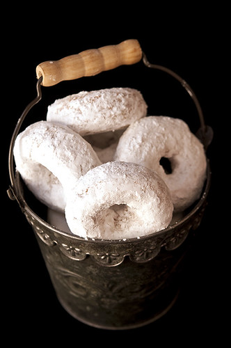 Whole Wheat Powdered Sugar Donuts Baked Not Fried