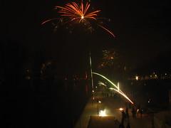 New Year's Eve fireworks in Frankfurt @ Alte Brücke