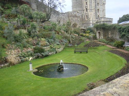 Espacio ajardinado del Castillo de Windsor
