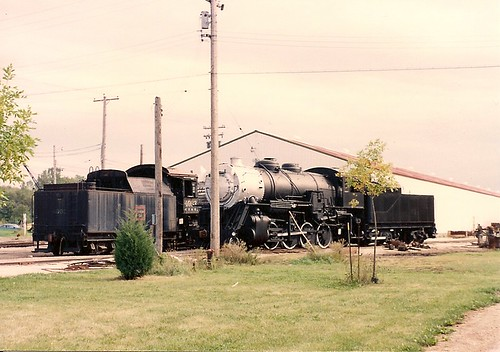A recently acquired Lake Superior & Ishpheming Railroad 2-8-0 steam locomotive. The Illinois Railway Museum. Union Illinois USA. 1995. by Eddie from Chicago