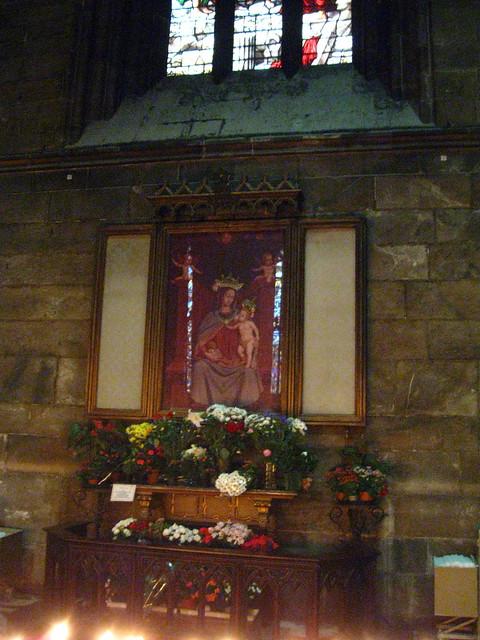 聖母マリアの絵のフリー写真素材
