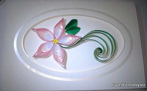 Cartão Flor Rosa