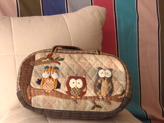 Little Owl Sewing case (STORY QUILT) Tags: cute beautiful bag purse pouch kawaii owl patchwork applique zakka storyquilt