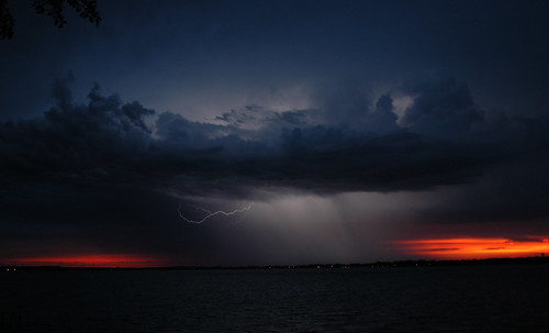 Lightening over Clear Lake