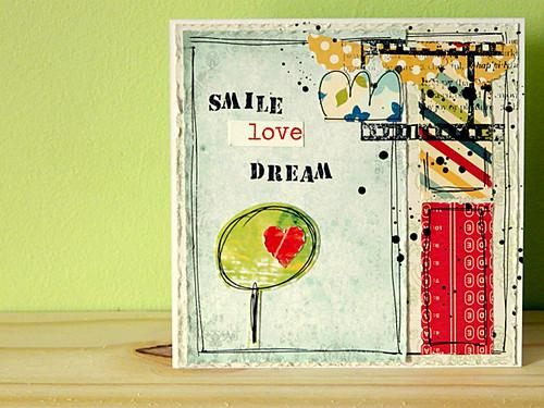 ~~smile-love-dream~~~ handmade card
