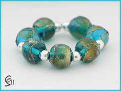 Tropics - Lampwork Glass Bead Set by Clare Scott SRA (Photography by Clare Scott) Tags: uk glass scott beads clare lampwork sra