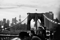 Downtown from Brooklyn Bridge (Rotdenken (Jules Rigobert)) Tags: camera city nyc newyorkcity bridge blackandwhite bw usa moon ny newyork skyline brooklyn america lune town photo flickr foto unitedstates minolta noiretblanc cityhall manhattan ciudad nb ciel stadt pont sw amerika brcke dreamland stadthalle ville mairie argentique citt 21stcentury amrique etatsunis unitesstatesofamerica nyccityhall flickraward schwarzundweis xxiesicle rotdenken julesrigobert