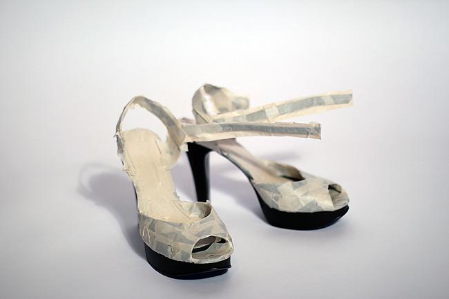 Dirty Hems DIY- Neon Sole Heels 2