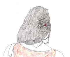 contra con q. (puntobipolar) Tags: white black lines illustration hair punto little drawing draw sketches bipolar