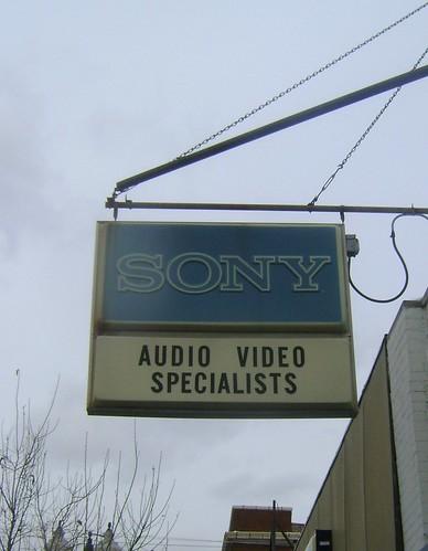 Vintage sony signage