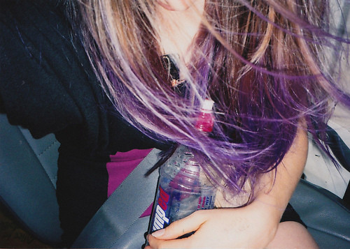 1 hair purple