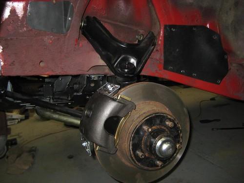 disc brakes on