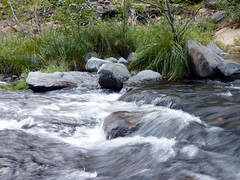 Oak Creek (4) (bulldog008) Tags: travel arizona motion nature water rock creek forest river landscape oak exposure natural action rocky sedona running edge flowing