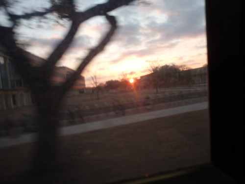 Sunset through the Bus Window