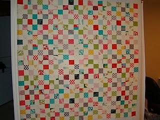 postage stamp quilt along progress