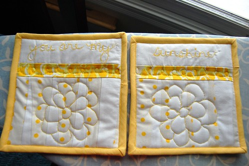 sunshine potholders