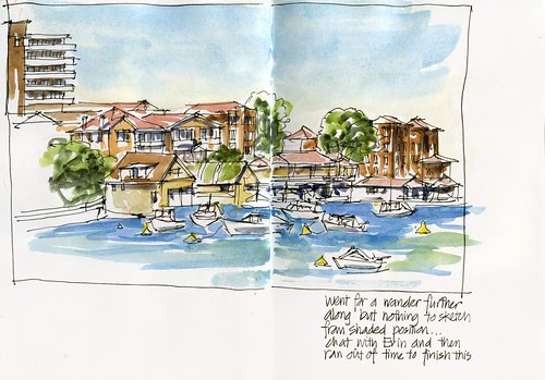110122 Sketchcrawl 30_04 Manly Cove Detail