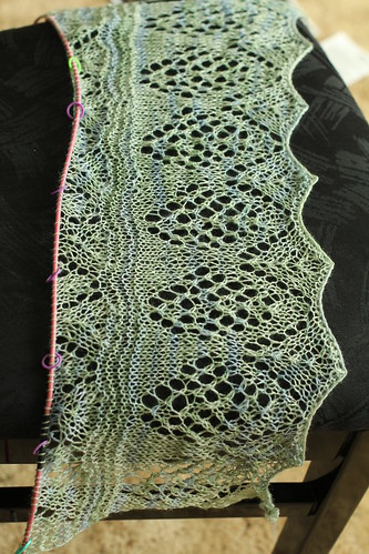 Madli's Shawl: in progress