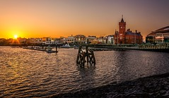 Cardiff bay at Sunset (technodean2000) Tags: uk sunset sun building wales bay nikon south cardiff pierhead lightroom d5200