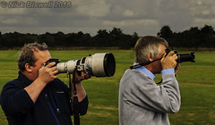 One Passion (Nick Biswell) Tags: bccpoty2016round7together photographers juxapose juxtaposition cameras longlens pointandshoot powershot canon airshow shuttleworthcollection shuttleworthseasonfinale2016 raceday roaringtwenties oldwarden centralbedfordshire uk sony a580 tamrondt18270mmf3563 together