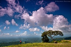 Heaven Is A Place On Earth (Rezwan Razzaq) Tags: blue red sky cloud white mountains tree green nature landscape heaven alone loneliness hill peak filter bangladesh hillyarea nilgiri chittagong gnd bandarbans tamronspaf1024mmf3545diiildasphericaliflens gettyimagesbangladeshq2